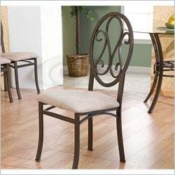 Holly & Martin Paisley Dining Chair in Dark Brown & Beige (Set of 4)