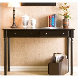 Holly & Martin Parker 2-Drawer Writing Desk in Satin Black