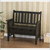 Holly & Martin Pecos 3 Drawer Country Bench in Black