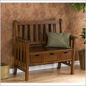Holly & Martin Pecos 3 Drawer Country Bench in Oak