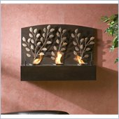 Holly & Martin Regina Wall Mount Fireplace in Textured Espresso