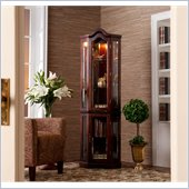 Holly & Martin Riley Lighted Corner Curio Babinet in Mahogany