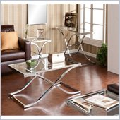 Holly & Martin Roxburgh Table Collection with Mirror in Chrome