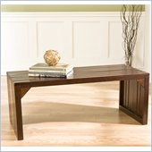 Holly & Martin Sabine Slat Bench/Coffee Table in Espresso