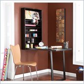Holly & Martin Sadie Wall-Mount Craft Desk in Black