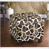 Holly & Martin Safari Storage Ottoman in Giraffe
