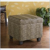 Holly & Martin Safari Storage Ottoman in Leopard