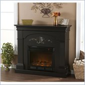 Holly & Martin Salerno Electric Fireplace in Black