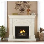 Holly & Martin Salerno Gel Fireplace in Ivory