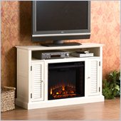 Holly & Martin Savannah Media Electric Fireplace in Antique White