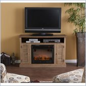 Holly & Martin Savannah Media Electric Fireplace in Weathered Oak