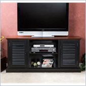 Holly & Martin Savannah Media Stand in Black & Walnut