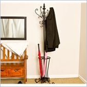 Holly & Martin Sheffield Coat Rack with Umbrella Stand in Painted Black