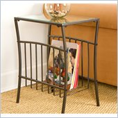 Holly & Martin Shiloh Metal Magazine Table in Textured Black