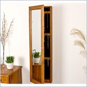 Holly & Martin Sophia Wall-Mount Jewelry Mirror in Plantation Oak