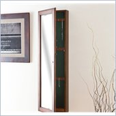Holly & Martin Sophia Wall-Mount Jewelry Mirror in Warm Brown Walnut