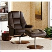 Holly & Martin Torwood Leather Recliner and Ottoman in Brown