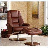 Holly & Martin Torwood Leather Recliner Chair and Ottoman in Cognac