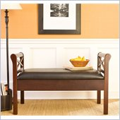 Holly & Martin Trinity Storage Bench in Espresso & Black