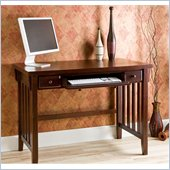 Holly & Martin Tristan Computer Desk w/ Pullout Drawers in Espresso