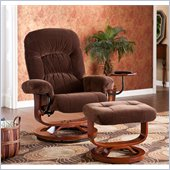 Holly & Martin Tyler Fabric Recliner Chair and Ottoman in Chocolate