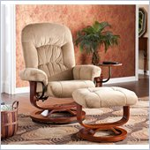 Holly & Martin Tyler Fabric Recliner Chair and Ottoman in Sand