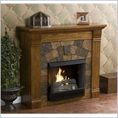 Holly & Martin Underwood Gel Fireplace in Antique Oak