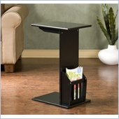 Holly & Martin Upton Magazine Snack Table in Black