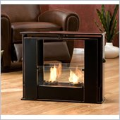 Holly & Martin Walton Portable Indoor/Outdoor Gel Fireplace in Black w/ Cooper Accent