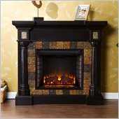 Holly & Martin Weatherford Convertible Electric Fireplace in Black