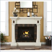 Holly & Martin Weatherford Convertible Gel Fireplace in Ivory
