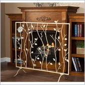 Holly & Martin Willow Fireplace Screen in French Vanilla
