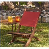 Holly & Martin Wilson Folding Picnic Chair in Dark Brown Wood