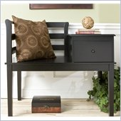 Holly & Martin Yukon Gossip Bench in Painted Black