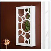 Holly & Martin Zoey Wall-Mount Jewelry Mirror in Frosty White