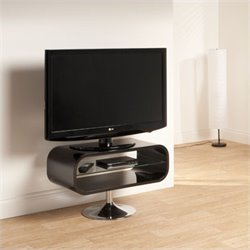 Techlink Opod TV Stand Black with Chrome base