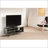 Techlink Arena TV Stand Grey Gloss Frame Clear Glass