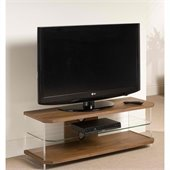 Techlink Air Acrylic and Glass TV Stand in Walnut