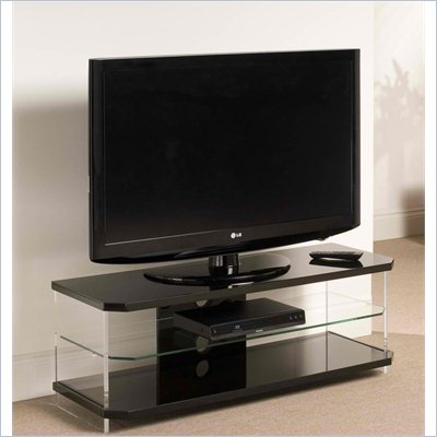 Techlink Air Acrylic and Glass TV Stand in Black