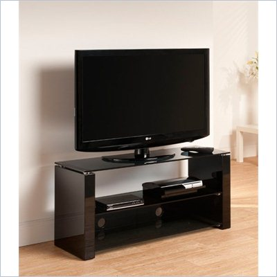Techlink Bench Three shelf TV stand 1100mm Black