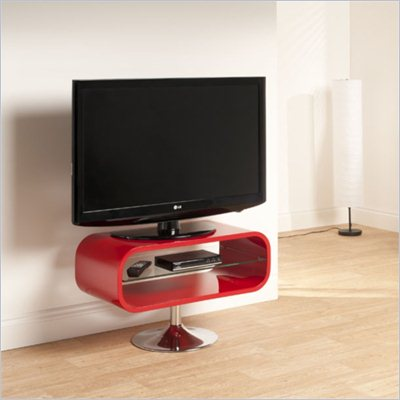 Techlink Opod TV Stand Red with Chrome base