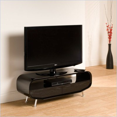 Techlink Ovid Evo TV Stand in High Gloss Black