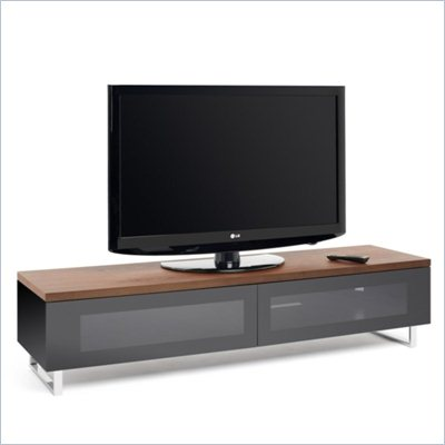 Tech Link Panorama 65&quot; TV Stand in Walnut/Black
