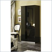 camelgroup Barocco 2 Door Wardrobe in Black w/ Silver