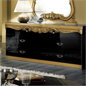 camelgroup Barocco Double Dresser in Black w/Gold
