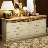 camelgroup Barocco Double Dresser in Ivory w/Gold