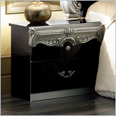 camelgroup Barocco Nightstand in Black w/Silver