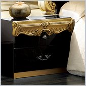 camelgroup Barocco Nightstand in Black w/Gold