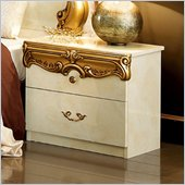camelgroup Barocco Nightstand in Ivory w/Gold