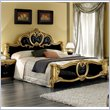ADD TO YOUR SET: camelgroup Barocco Bed in Black w/Gold